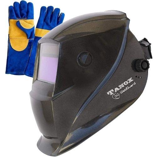 Tanox Auto-Darkening Solar Powered Welding Helmet